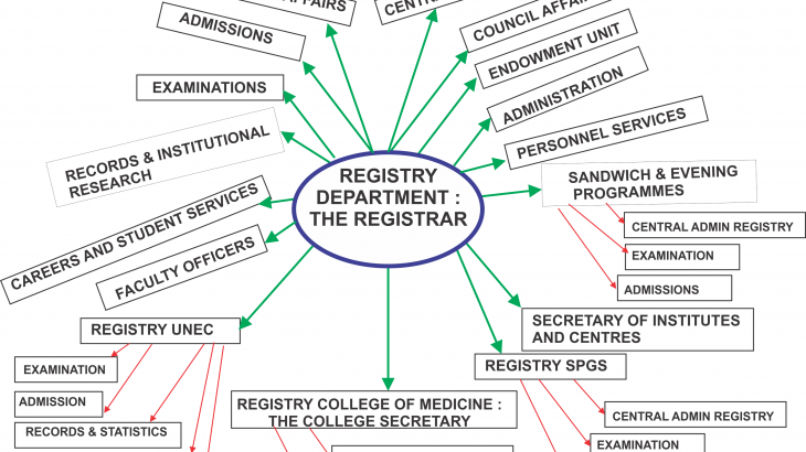 Diagram of Strategic Offices in Registry